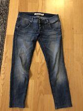 Roy Rogers Italy Jeans Denim Pants White Blue Silver Skinny Slim Straight 28 42