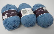New listing 3Skeins Ella Rae Baby Cotton Crete Blue #6 Yarn