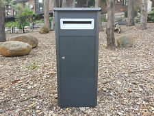 PARCEL LETTERBOX MAIL DROP BOX MAILBOX POST MONUMENT GREY PARCELBOX PIER MODERN
