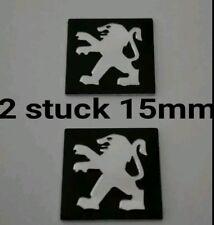 Schlüssel Logo Emblem Fernbedienungen Aufkleber  Peugeot 15mm  2Stück