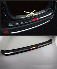 Rear Bumper Protector Sill Plate for 2016-2017 Mitsubishi Outlander ABS red