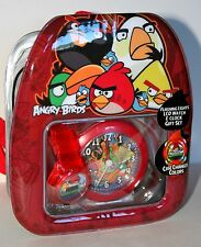 2 Angry Birds Flashing LCD Watch Set Sealed Backpack New NOS 2013 Dead Battery