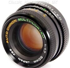 Auto Chinon 1:1 .7 50 mm F1.7 Multi-Coated lente para Pentax-K Film & Digital SLR