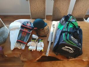 Cricket Bundle Junior - Helmet -  Kookaburra Bat, Pads - Gloves - Bag - Box