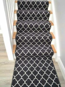 Dark Grey Easy Clean Rugs Custom Made Narrow Stair Carpet Good Quality And Cheap