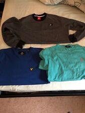 Mens Clothes Bundle-3 Item-Size Medium-Nike Jumper/Lyle & Scott+Ralph Lauren Top