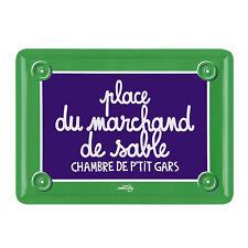 """Plaque de porte Chambre """"Marchand de sable"""" en métal vert DLP Derrière La Porte"""