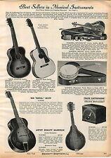1942 ADVERTISEMENT REX Hawaiian Guitar Royal Mandolin American Made Saxophone