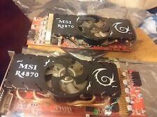 ATI Radeon MSI, 4870 (1 gig and 512 MB,) 2 PCI Express 2.0 Crossfire xfire