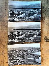 3 RPPC Horta Fayal Azores Portugal 1930s