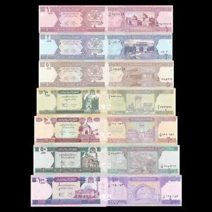 AFGHANISTAN 1-100 AFGHANIS BrandNew Banknotes set 7PCS(Year of random)