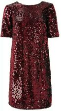 Monsoon Stacey Sequin Shift Dress Uk 18 Red Bnwt Special Occasions Short Mini