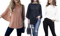 Boatneck Women's Sweater Shirt - Black - Size: Medium(8-10)