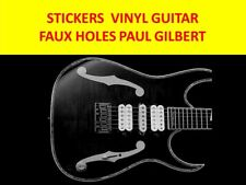 FAUX HOLES SILVER PAUL GILBERT IBANEZ VISIT MY STORE FOR CUSTOM GUITARS STICKERS