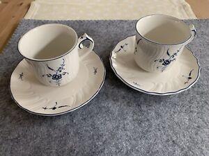 Villeroy & Boch - Alt Luxemburg, Kaffeetassen  mit Unterteller, 2 Stück