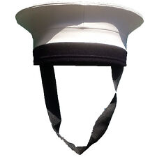 Royal Navy Pork Pie White Sailor Hat British Uniform Military Surplus