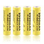 4pcs 3.7V 18650 9900mah Li-ion Rechargeable Battery For LED Flashlight Torch XP