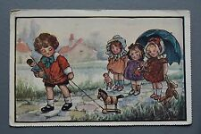 R&L Postcard: Children Playing, Pull Along Toy, Soldier, Teddy etc, Faulkner