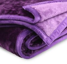Blanket Mink Queen Double Single Purple 500gsm.