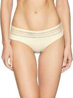 Robin Piccone Women's 174833 Perla Banded Bikini Bottom Crochet Inset Size M