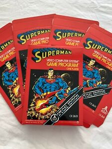 "Atari 2600 VCS ""Superman"" Cartridge EMPTY BOX ONLY New Superb"