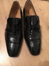Men's Paco Milan Mijas Patent Leather Slip On Shoes, Black, Great Condition
