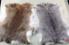 100% Natural Rabbit Fur Skin Crafts Arts Real Rabbit Leather Hides & Fur Pelts
