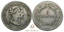 5 franchi 1807 Félix & Elisa Napoléonide Italie - Argent