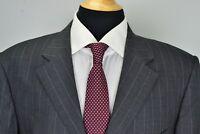 Ermenegildo Zegna Napoli Couture Gray Pinstriped Wool 2 Piece Suit Sz 46L