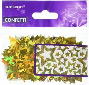 Prismatic Gold Stars Table Confetti Sprinkles 14g Bag
