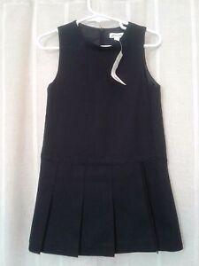 Jacadi Girls Midnight Blue Wool Sleeveless Dress Age 4,  8 NWT