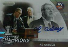 11-12 certified champions al arbour new york islanders autograph auto 17/25