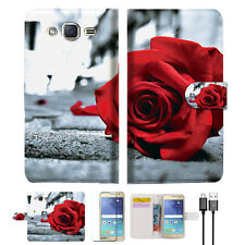 Blooming Rose Wallet Case Cover for Samsung Galaxy J2- A011