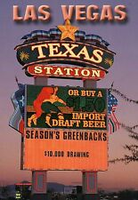 Texas Station Casino Sign, Hotel, Las Vegas Nevada, Beer Ad, off Strip, Postcard