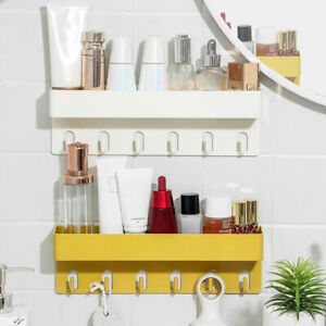 Wall Mount Shower Rack Shelf Caddy Bathroom Storage Organiser Basket Shelf Tidy