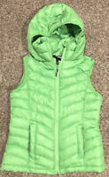 YMI Womens S Full Zip Green Hooded Polyester Vest Softshell A29