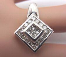 14k white gold diamond pendant 0.56 CT