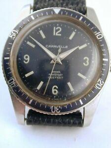 Original Caravelle by Bulova Devil Diver Dive Watch - 1969 Stainless Steel Case