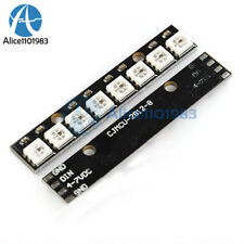 Black 8 Channel WS2812 5050 RGB 8 LEDs Light Strip Driver Board for Arduino