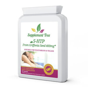 5HTP from 400mg Griffonia Seed 90 Capsules HIGH STRENGTH hydroxy tryptophan