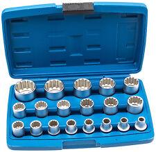 Steckschlüssel Satz 1/2 Zoll 19-tg 8-32 Vielzahn Nüße Torx Nuß Zoll Werkzeug Kfz