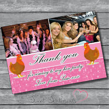 Personalised Your Photo Hen Night Party Thank You Notes / Card x10