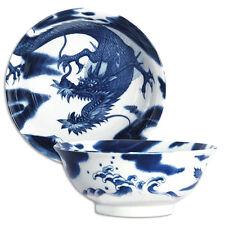 "Japanese 8.25""D Porcelain Ramen Noodle Soup Bowl RYU Dragon Design/Made Japan"