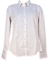 GANT Womens Long Sleeved Shirt Blouse Striped - White Orange