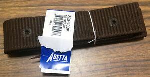 "New Abetta Nylon Tie Strap With Holes Latigo Brown Billet 2"" x 6' Horse Tack NR"