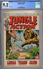 Jungle Action #1 CGC 9.2 NM- OwWp Marvel Comics 1972 Lorna Tharn & Jann App RARE