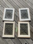 Set Of 4 Matching Vintage Leaded Clear Glass Window Panels Restoration Decor