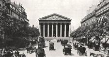 PARIS. La Rue Royale et la Madeleine 1900 old antique vintage print picture