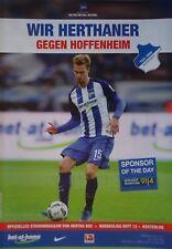 Programm BL 2016/17 Hertha BSC Berlin - 1899 Hoffenheim