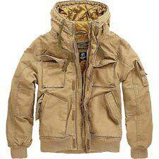 BRANDIT Herren Herbst Winter Jacke Vintage Army Outdoor  Bomberjacke Gesteppt